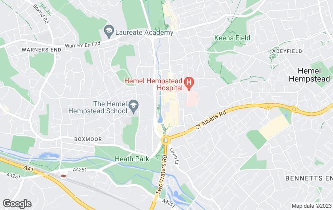 Map for Chancellors, Hemel Hempstead