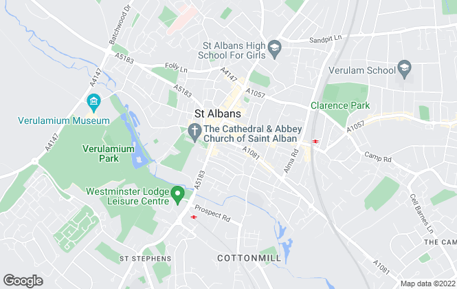 Map for Space Lettings, St Albans
