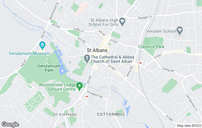Map for Leaders, St Albans