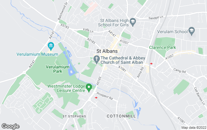Map for Aitchisons, St Albans