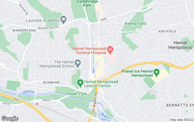 Map for Chancellors, Hemel Hempstead Lettings