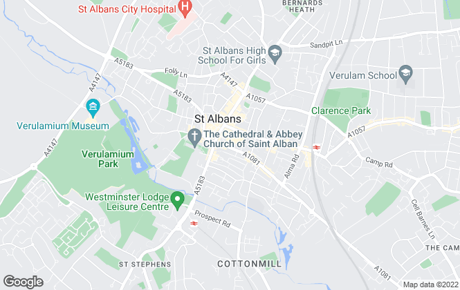 Map for Strutt & Parker, St Albans