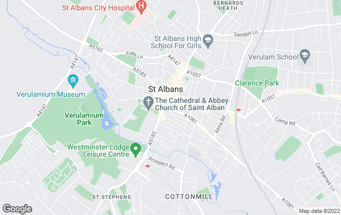 Map for Langleys Estate Agents, St Albans