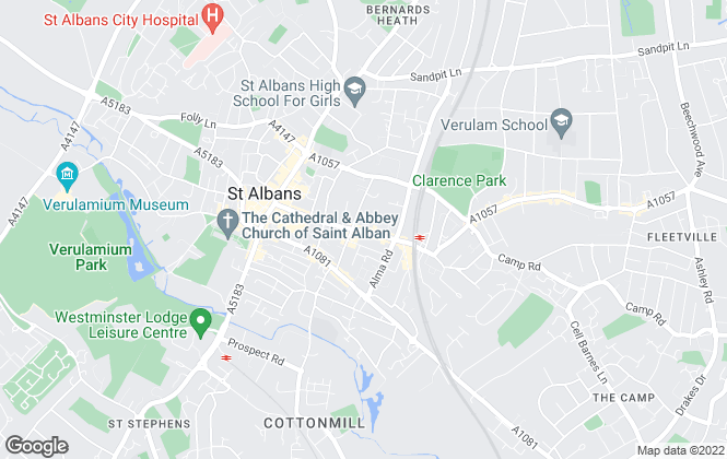 Map for Aubrey & Finn Estate Agents, St Albans