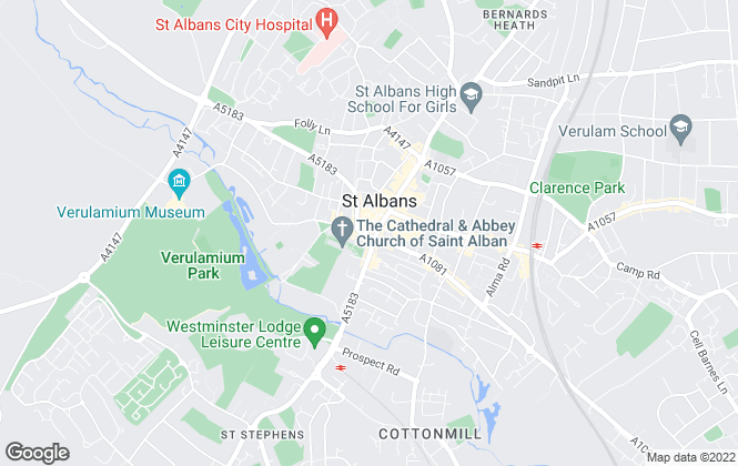 Map for Hamptons International Sales, St Albans