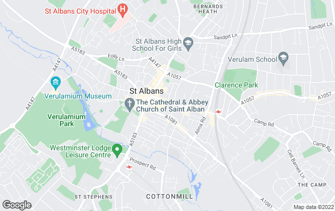 Map for Fablets, St Albans