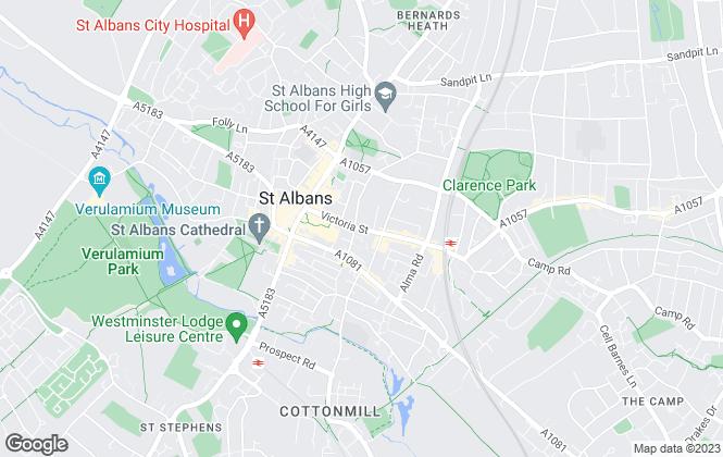 Map for Aitchisons, St Albans