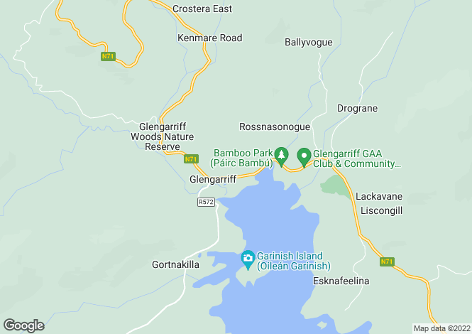 Map for Cork, Glengarriff