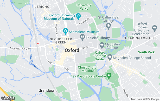 Map for Central Business Agency, Oxford