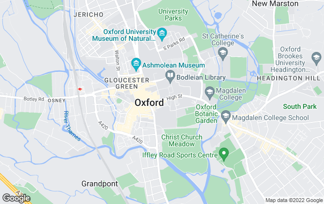 Map for Breckon & Breckon, Oxford High Street