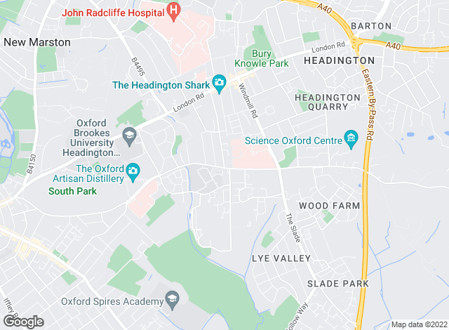 Map for Breckon & Breckon, Headington- sales