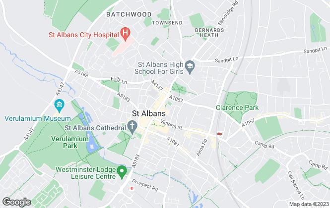 Map for Strutt & Parker, St Albans