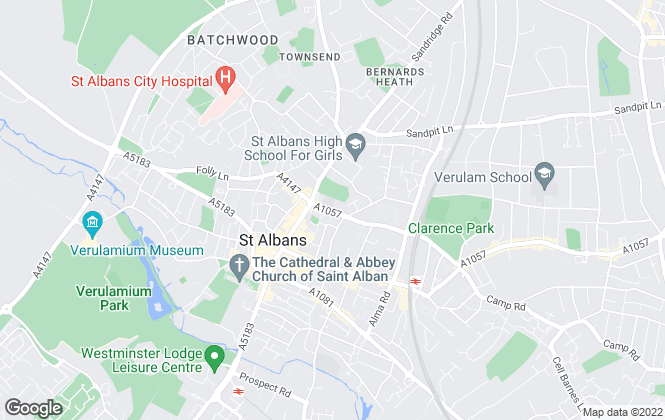 Map for Let Me Properties, St Albans