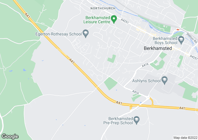 Map for BERKHAMSTED - Shootersway