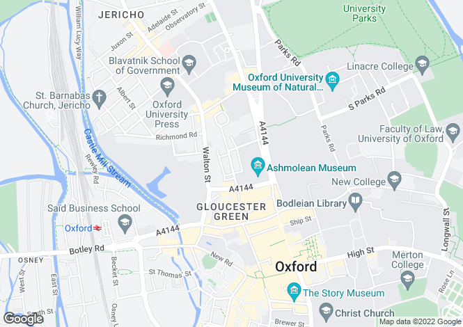 Map for St John Street, Oxford, OX1 2LQ