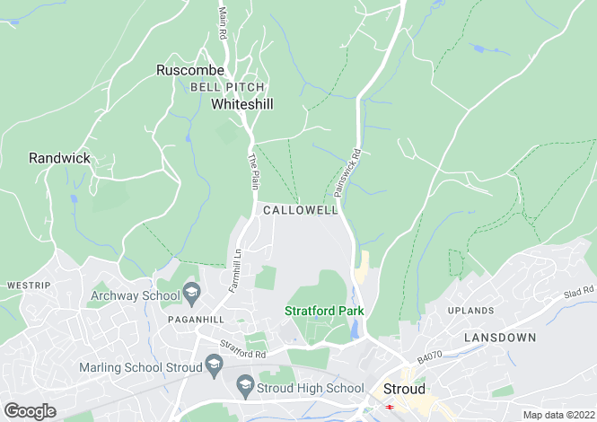 Map for Callowell, Stroud, Gloucestershire