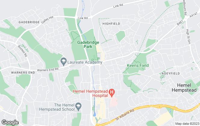 Map for Space Lettings, Hemel Hempstead