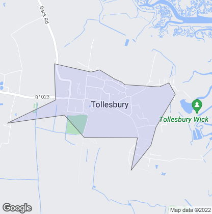 Map of property in Tollesbury
