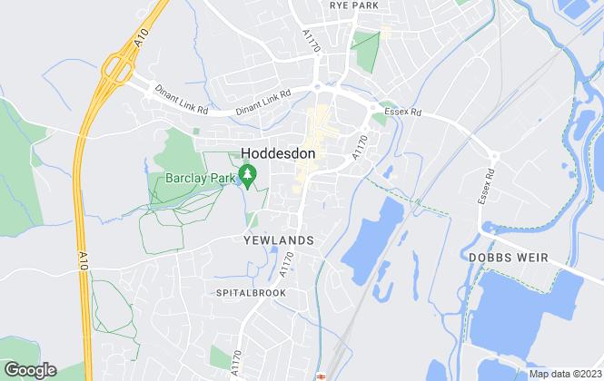 Map for Anthony Davies, Hoddesdon