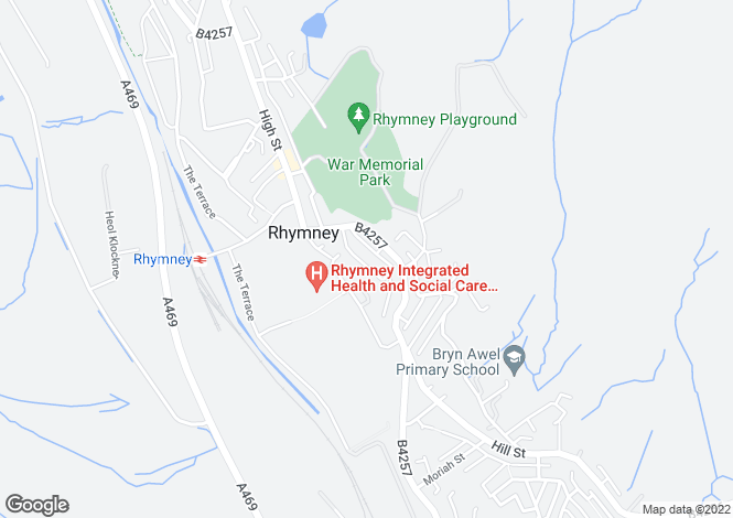 Map for Ramsden Street, Rhymney, RHYMNEY