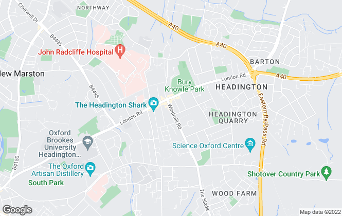 Map for Spire Properties , Headington
