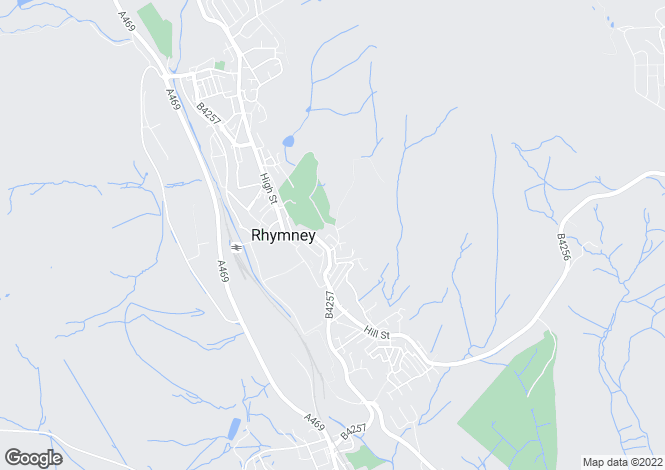 Map for The Rear Of Field Street, Rhymney