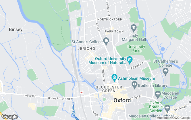 Map for North Oxford Property Service, Oxford
