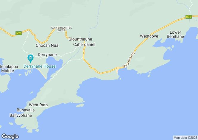 Map for Kerry, Caherdaniel