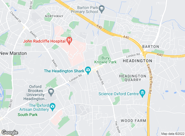 Map for Andrews Lettings and Management, Headington