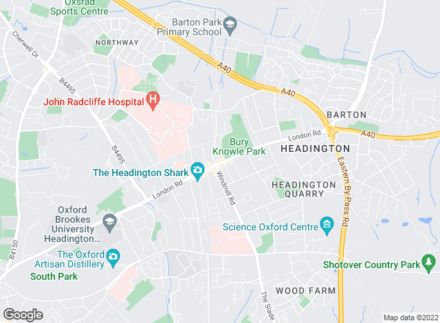 Map for Chancellors, Headington