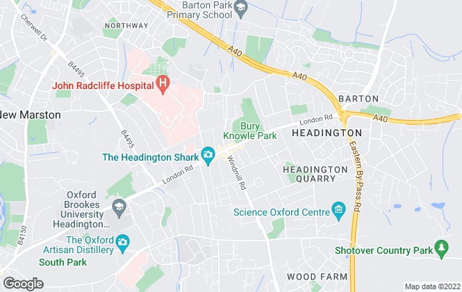 Map for Breckon & Breckon, Headington