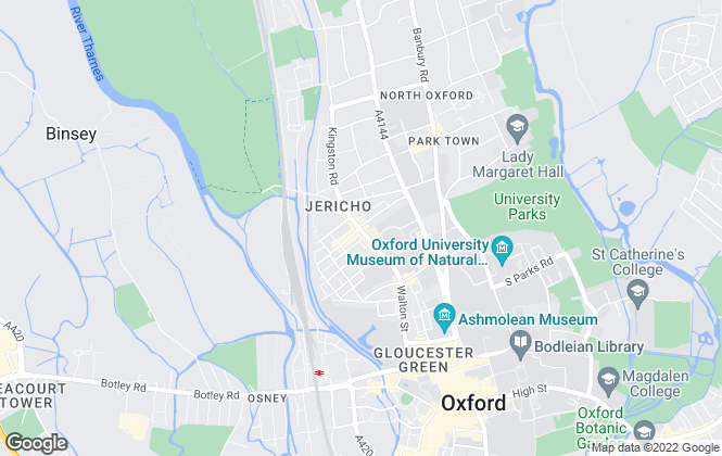 Map for JCP Estate Agents, Central/North Oxford