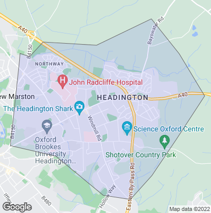 Map of property in Headington