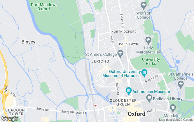 Map for Lucy Properties, Oxford