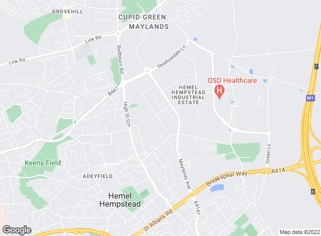 Map for Lambert Smith Hampton, Hemel Hempstead
