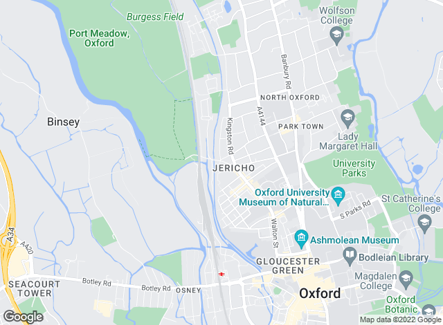 Map for Thomas Merrifield, Oxford