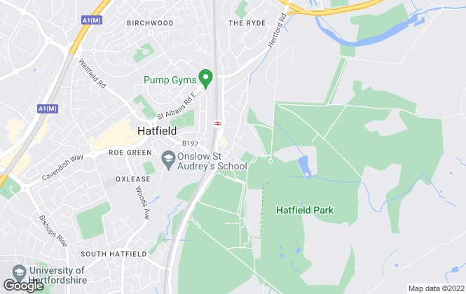 Map for Country Properties, Hatfield