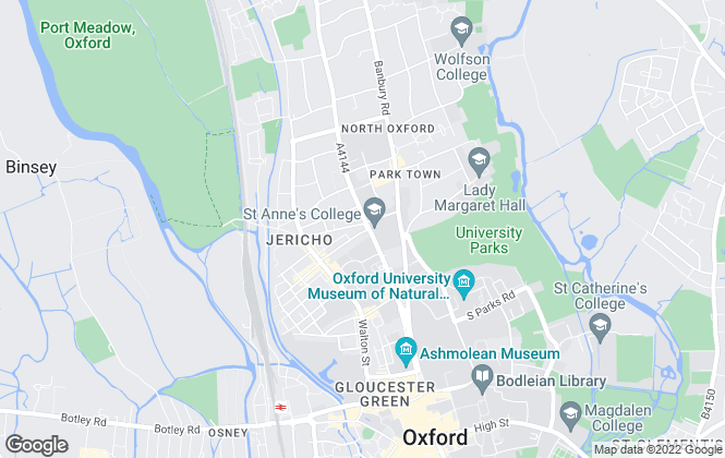 Map for Nicholas Jones Residential, Oxford