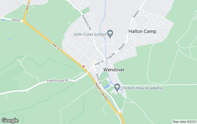 Map for Harpers, Wendover