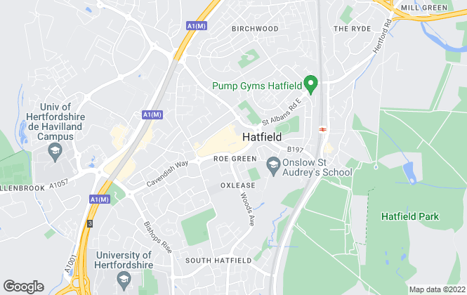Map for Mather Marshall, Hatfield