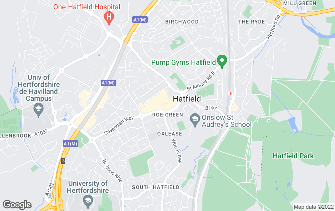 Map for Raine & Co, Hatfield
