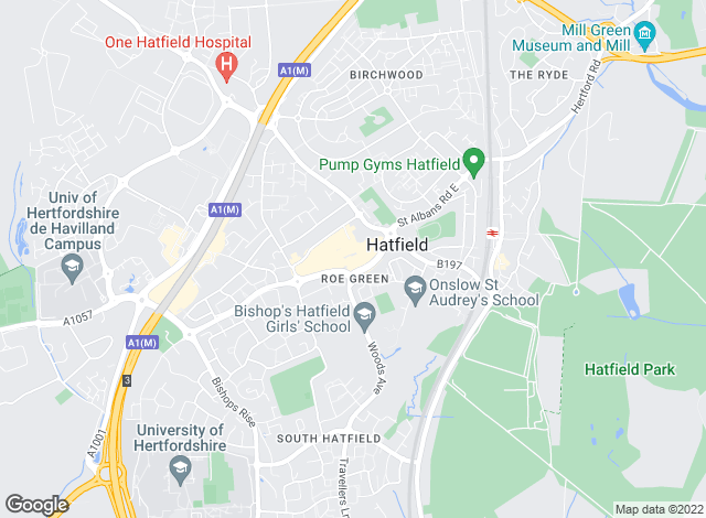 Map for Wrights of Hatfield, Hatfield