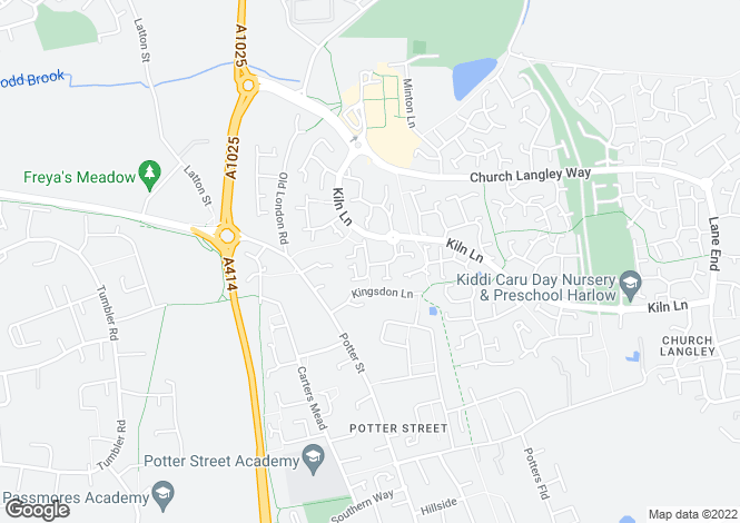 Map for Abbeydale Close, Church Langley