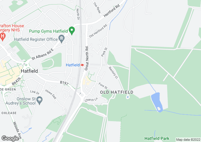 Map for Park Street, HATFIELD, Hertfordshire
