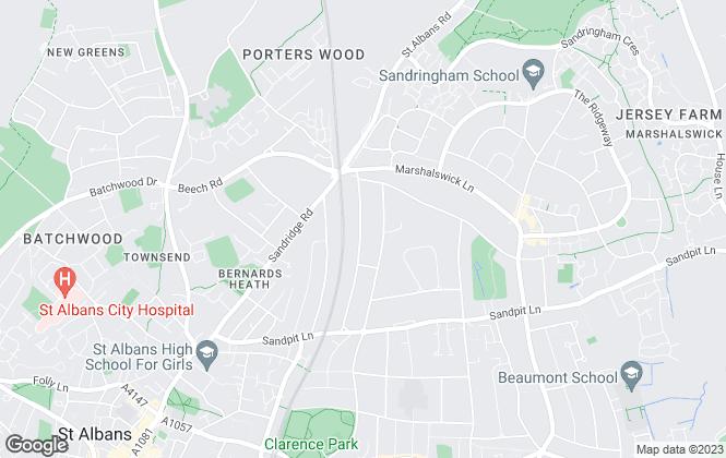 Map for Richard H Wells, Hertfordshire