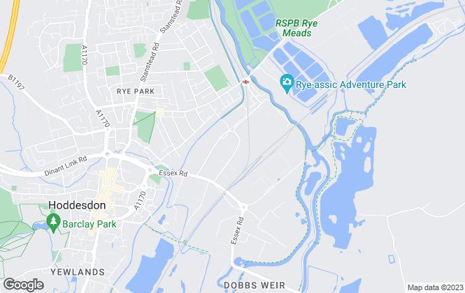 Map for Phily Estates, Hoddesdon
