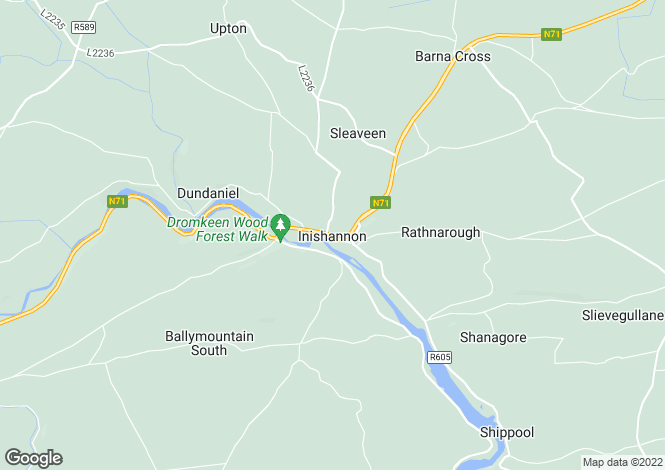 Map for Innishannon, Cork