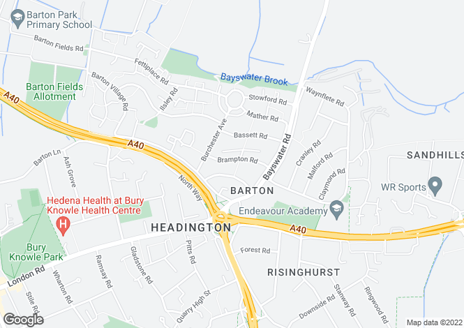 Map for Brampton Rd, Headington, Oxford, Oxfordshire