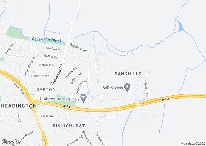 Map for Roberts Close, Sandhills, OX3 8EJ