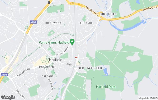 Map for Nicholas Humphreys, Hatfield